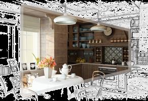 Кухня заміського будинку.